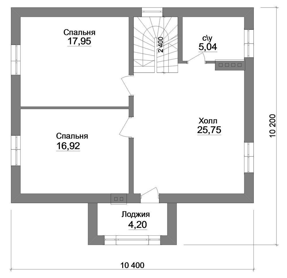 GRANAT B-243. Проект современного мансардного коттеджа до 150 м2 с двумя спальнями