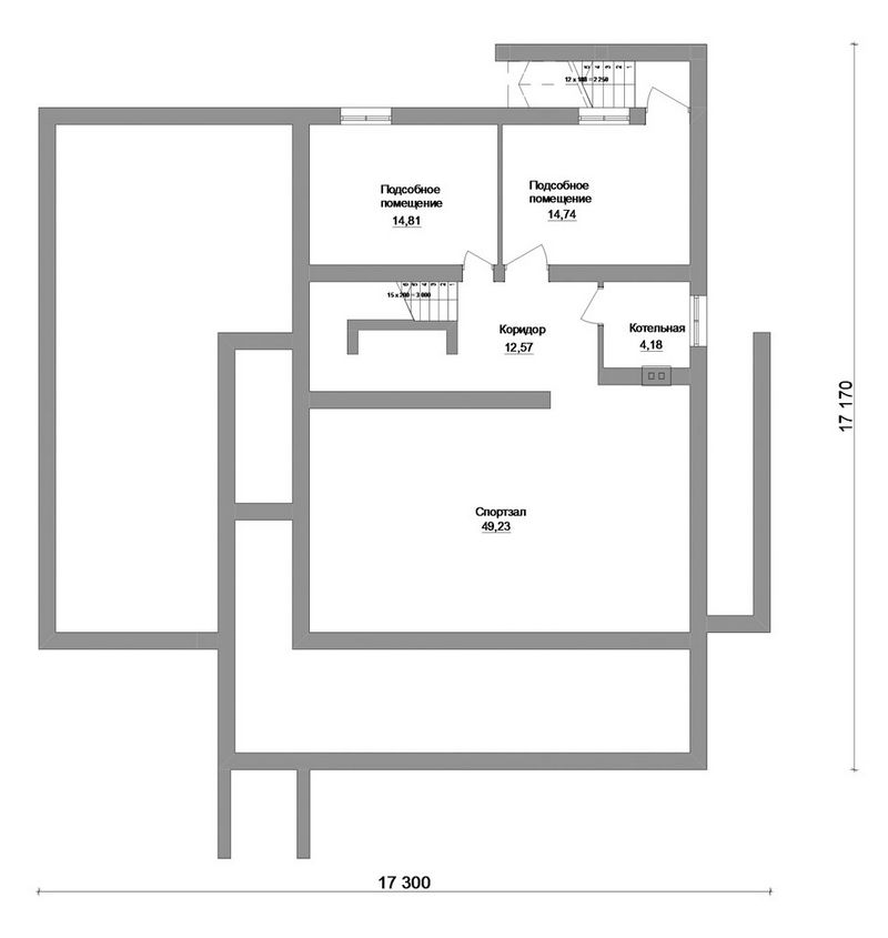 Гражданин F-052. Проект 2-этажного коттеджа со спортзалом, зимним садом и гаражом