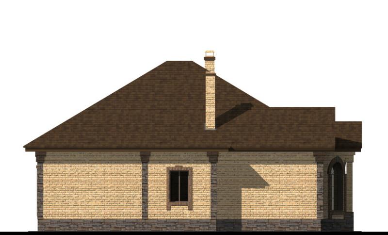 Грек C-225 с видеообзором. Проект красивого одноэтажного дома на 2 спальни, с крытой террасой