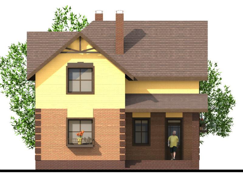 Хайат B-240. Проект красивого дома с мансардой, на 2 спальни