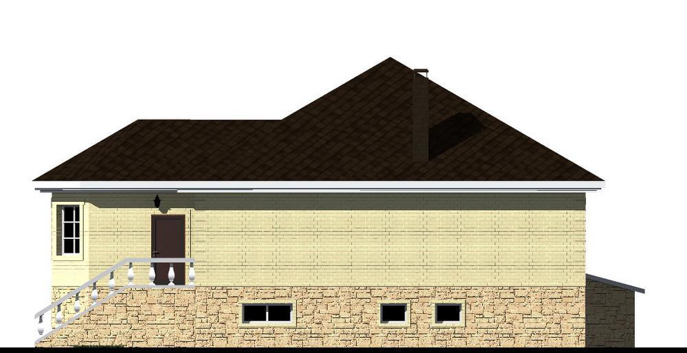 ХАЛИФ E-053. Проект одноэтажного дома с цокольным этажом, спортзалом, кабинетом, на 3 спальни