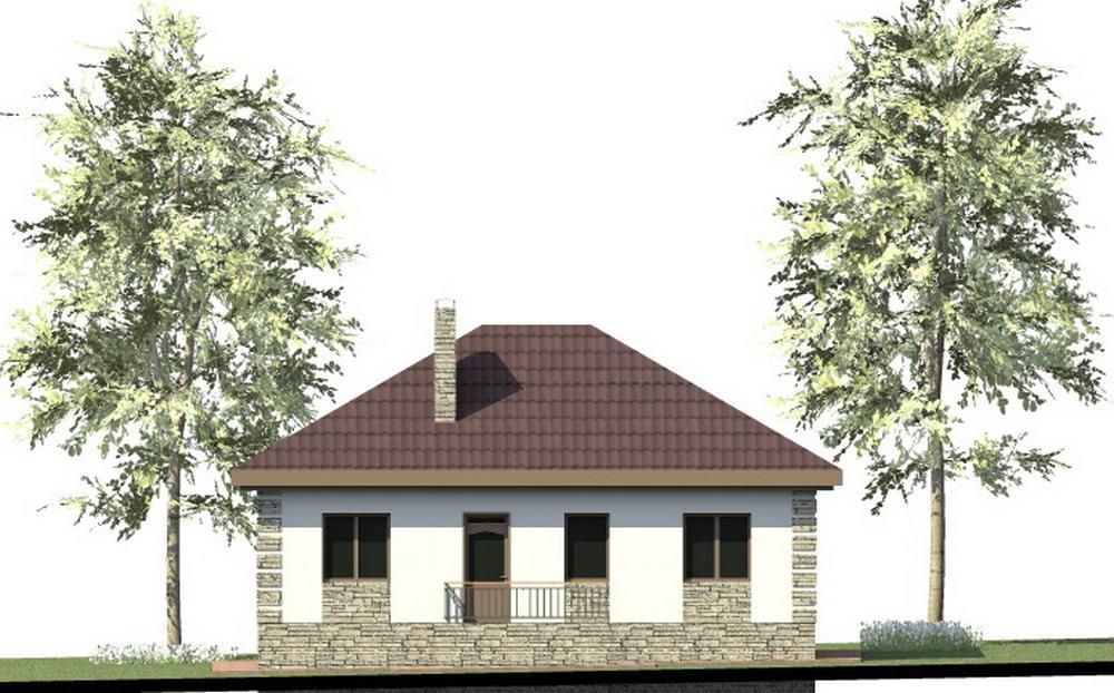 Йорк A-083. Проект одноэтажного дома с двумя спальнями