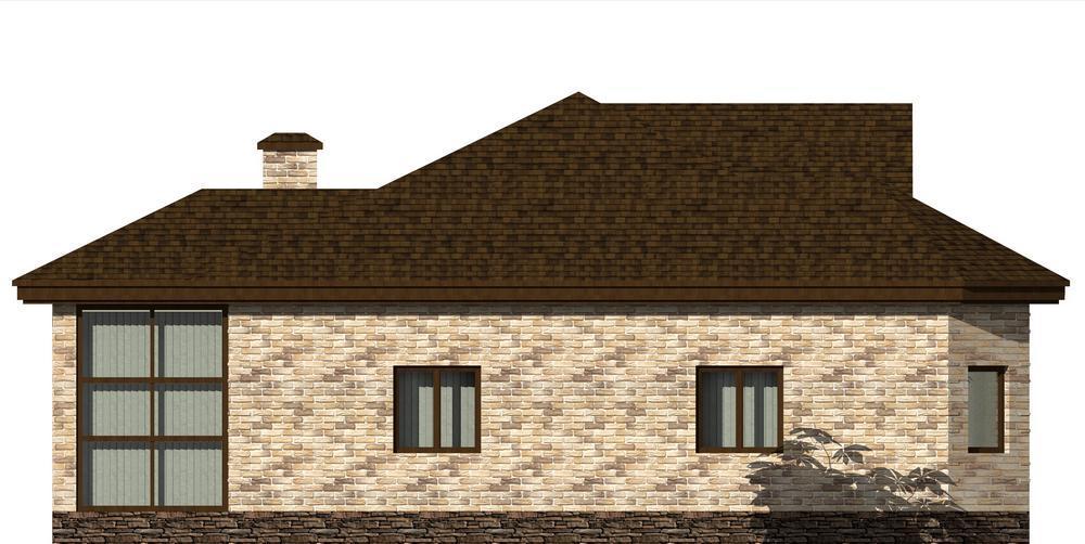 КАБАРДА C-210 с видеообзором. Проект одноэтажного дома на 3 спальни, с остекленной террасой