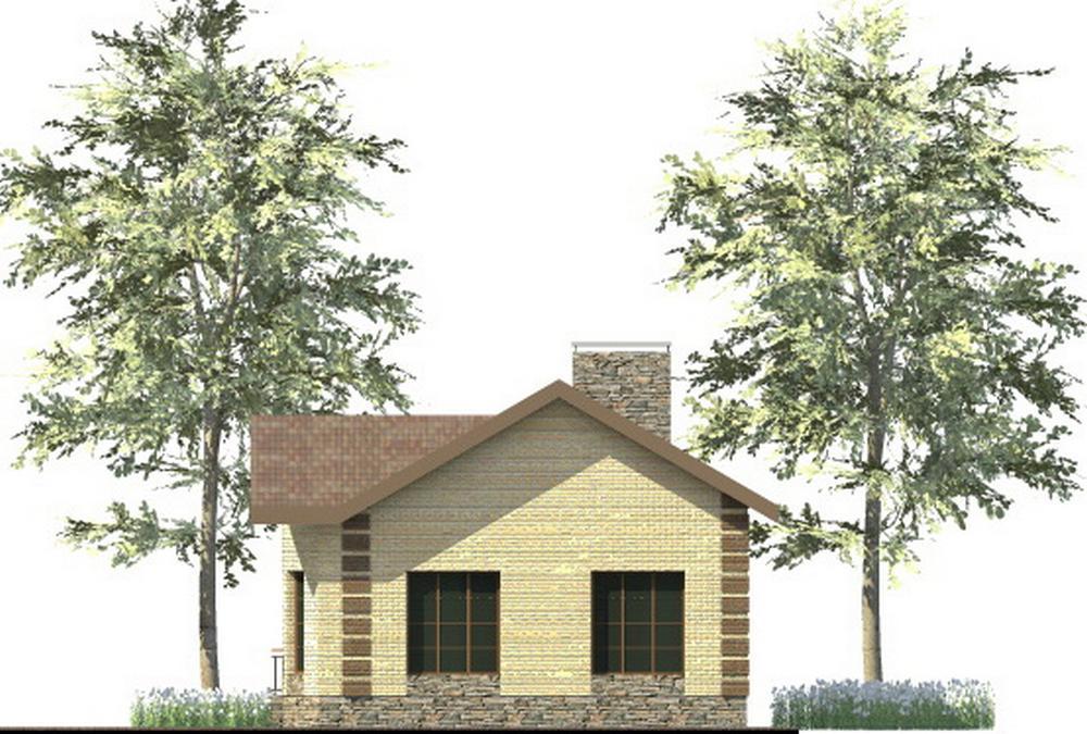 Калле A-086. Проект небольшого одноэтажного дома на 2 спальни