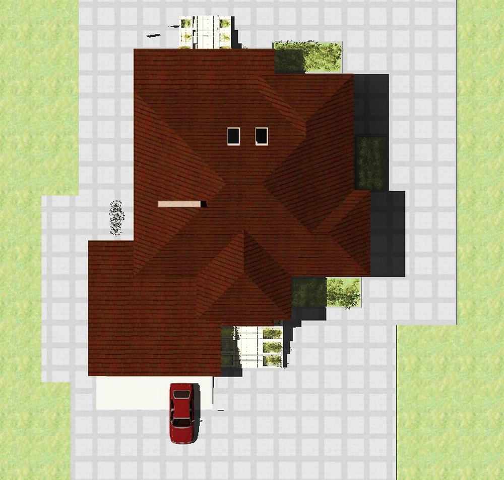 Карин F-055. Проект мансардного дома повышенного комфорта, с цокольным этажом
