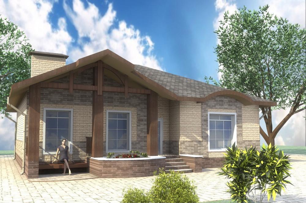 Кеннет A-069. Проект одноэтажного дома с простой планировкой, на 3 спальни