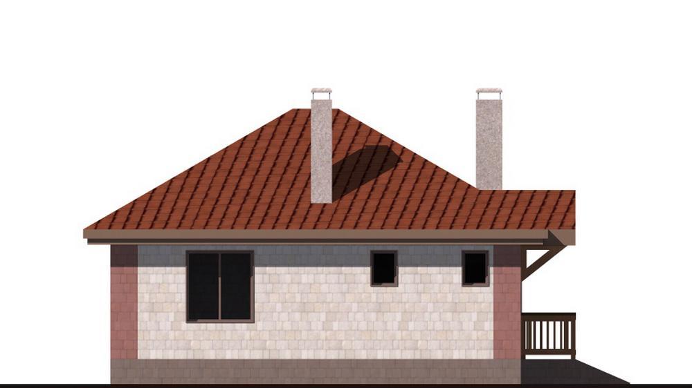 КЛЯЙН A-064. Проект простого одноэтажного дома на 2 спальни
