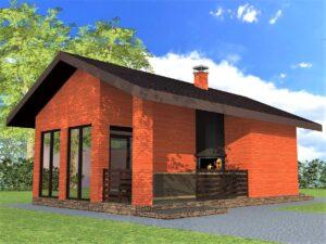 Красные Крылья G-071. Проект хоз. постройки с комнатой отдыха и террасой