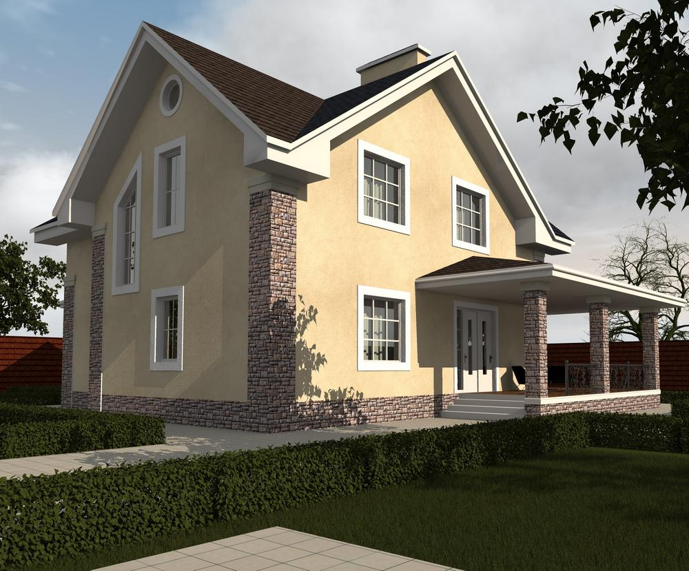 Кристер D-088. Проект мансардного дома с пятью спальнями и террасой