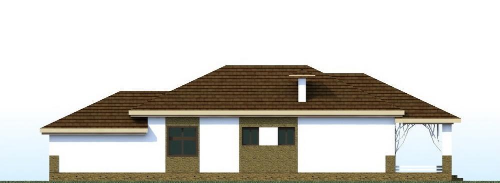 Кумран C-190. Проект одноэтажного дома на 2 спальни, с гаражом, террасой