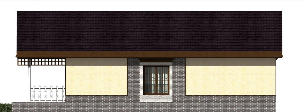 Курчатов B-201 с видеообзором. Проект одноэтажного комфортабельного дома на 2 спальни, с террасой