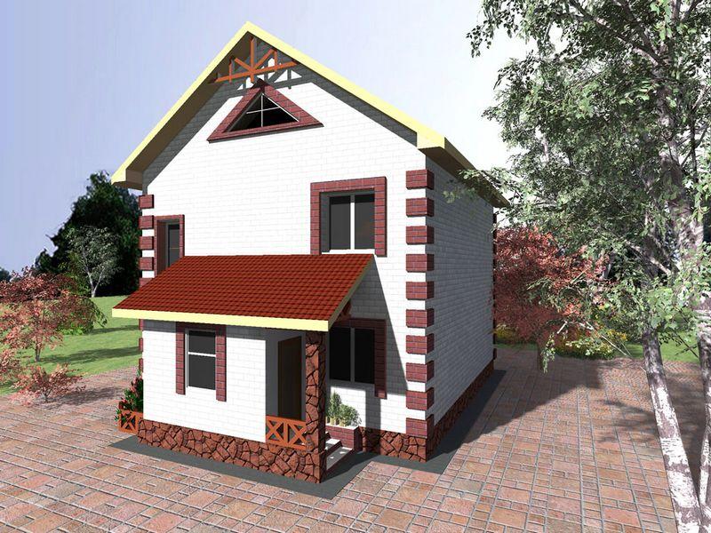 Лангот B-129. Проект простого двухэтажного дома на 4 спальни
