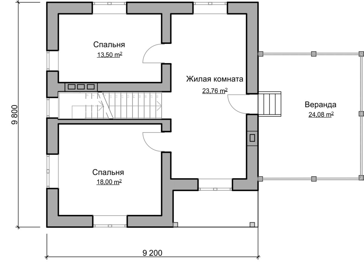 Ланкастер C-029. Проект двухэтажного дома с гаражом и террасой