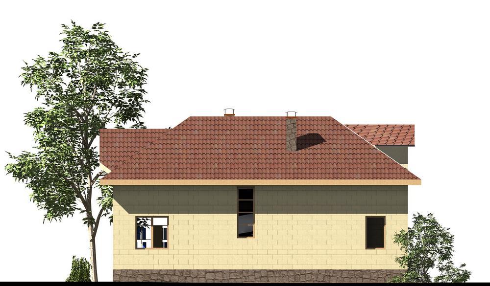 Лара B-155. Проект дома с мансардой, на 2 спальни, с мезонином