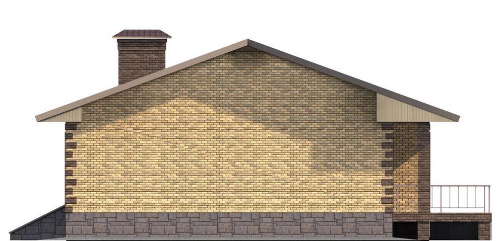 ЛАРСОН B-095. Проект одноэтажного дома с тремя спальнями и террасой