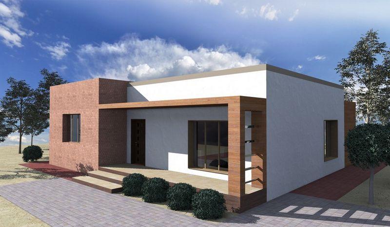 Лаунж-холл B-173. Проект современного одноэтажного дома с двумя спальнями