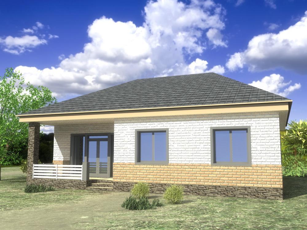 Лерой B-178. Проект одноэтажного дома c тремя спальнями, террасой и большой гостиной