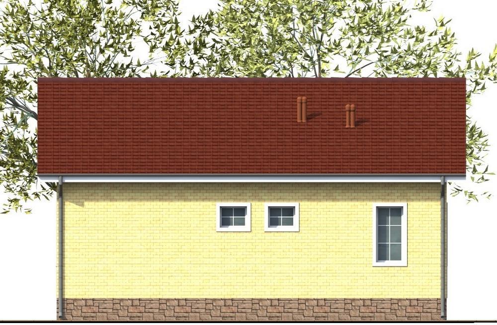 ЛЕВИ A-082. Проект простого одноэтажного дома с двумя спальнями