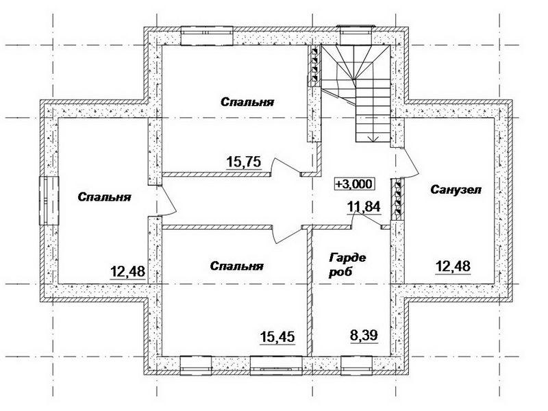 Литос C-142. Проект дома с мансардой на 3 спальни, с террасой