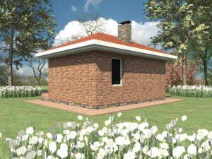 Манго G-060. Проект летнего домика с комнатой отдыха и подсобным помещением