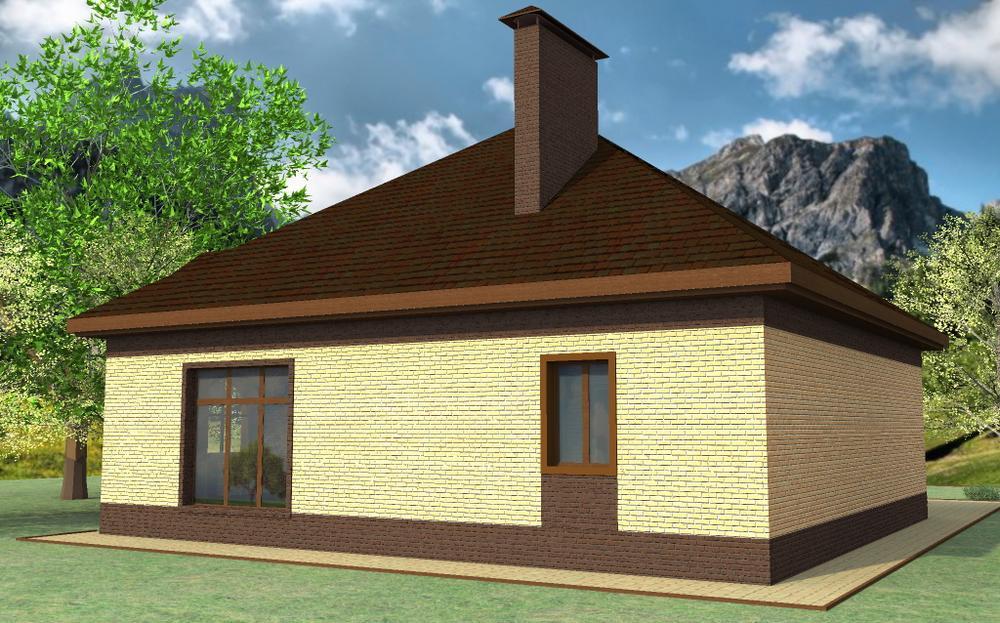 Маргери B-254. Проект квадратного одноэтажного дома с двумя спальнями