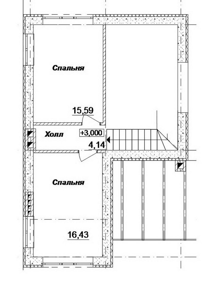 Мариана B-123. Проект мансардного дома на 3 спальни, с террасой