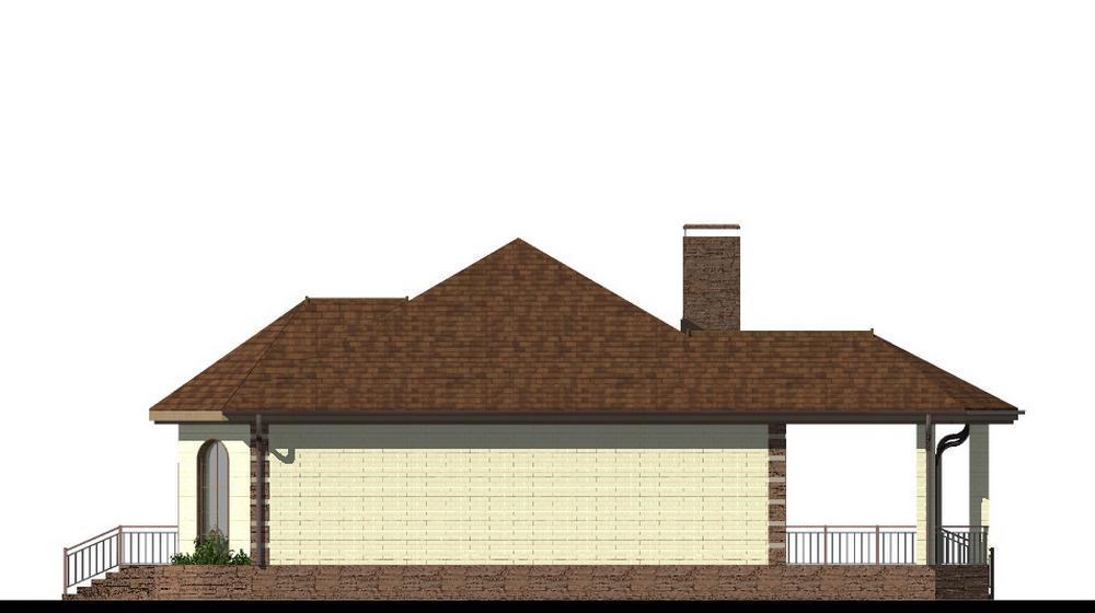 Мариус B-203. Проект одноэтажного дома на 3 спальни, с большой террасой