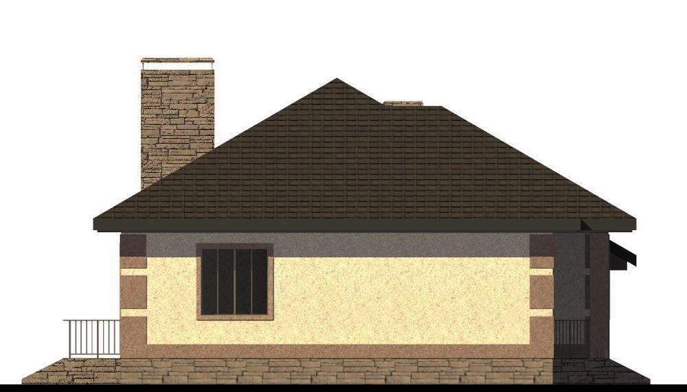 Марлен B-205. Проект одноэтажного дома с двумя спальнями и пристроенным гаражом