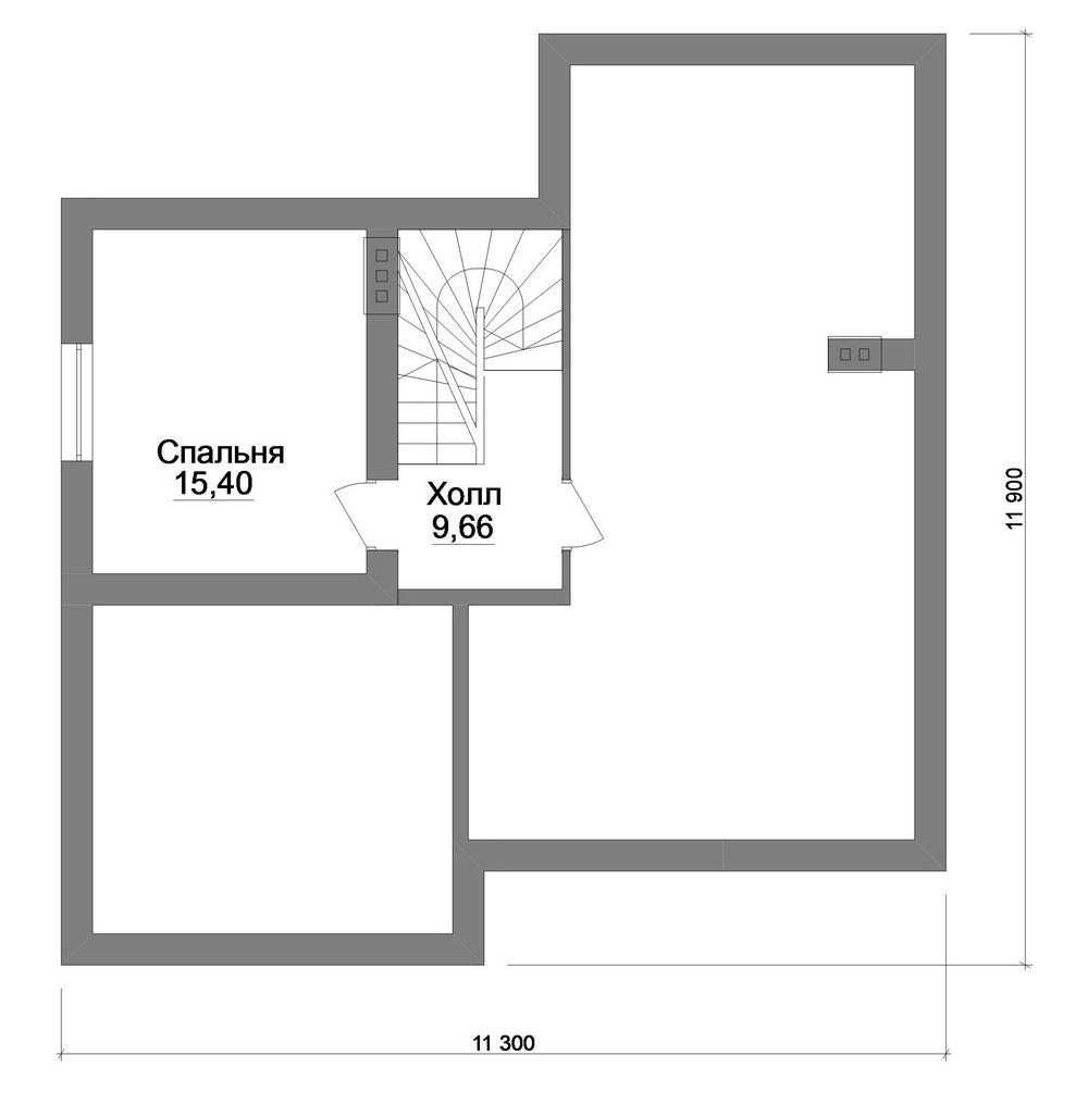 Мергель B-261. Проект дома с мансардой, тремя спальнями и террасой