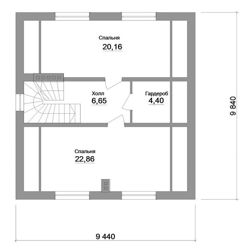 Моркисс B-130. Проект простого мансардного дома на 3 спальни