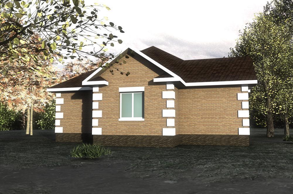 Мортон A-042. Проект простого одноэтажного дома с тремя спальнями