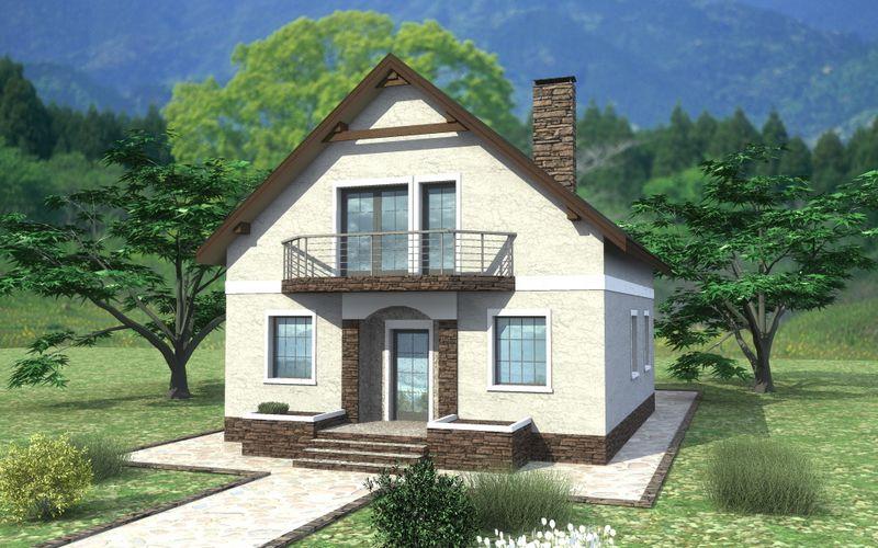 Навигар B-197. Проект дома с мансардой, тремя спальнями и террасой