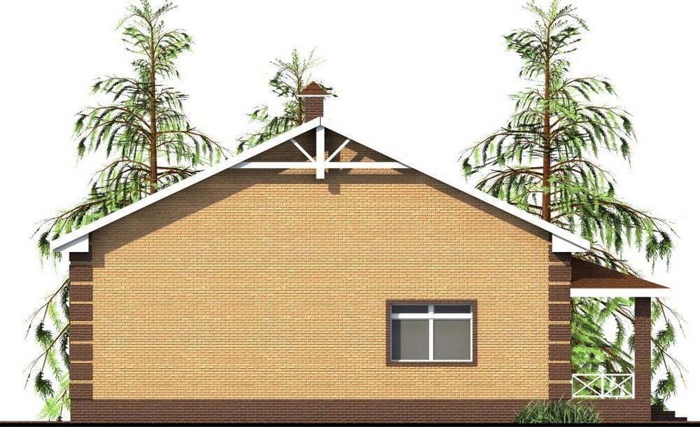 Нифонт C-238. Проект одноэтажного дома на 3 спальни с большой угловой террасой