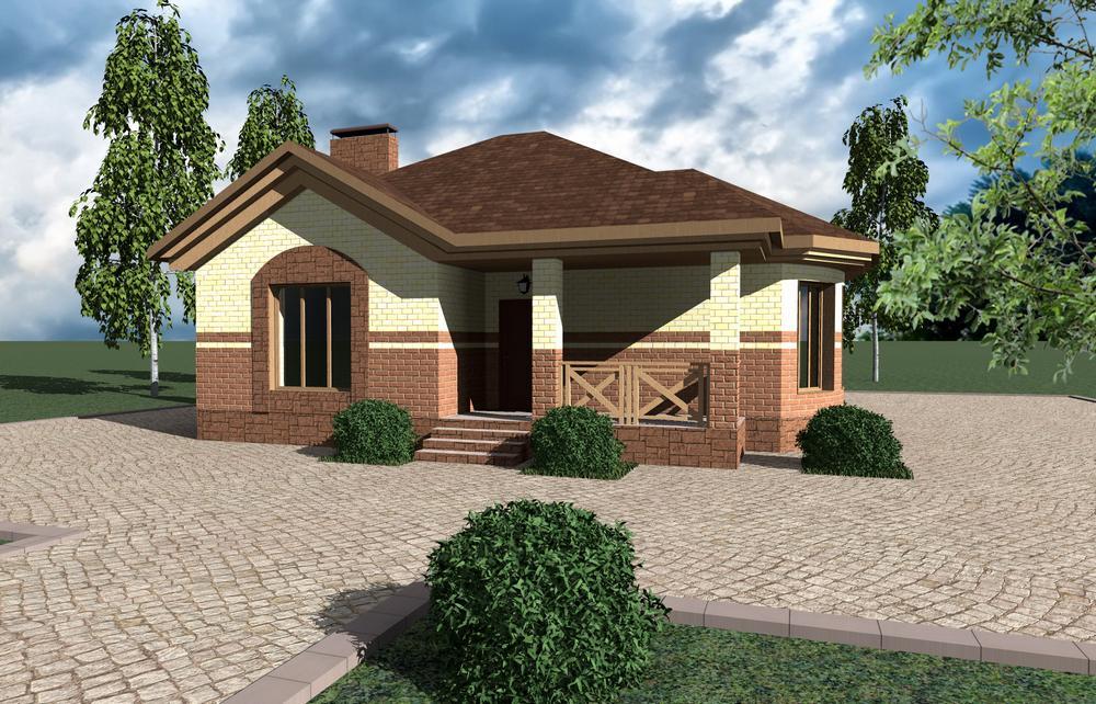 Нобилитет A-072. Проект одноэтажного загородного дома на 3 спальни
