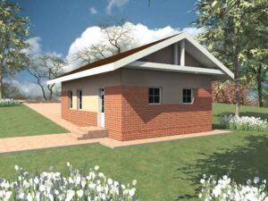 НОЯБРЬ G-055. Проект гаража с подсобным помещением