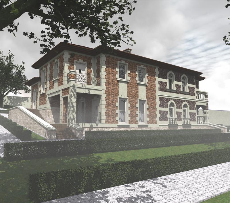 НУМИЗМАТ F-063 с видеообзором. Проект одноэтажного дома с цокольным этажом, на две семьи