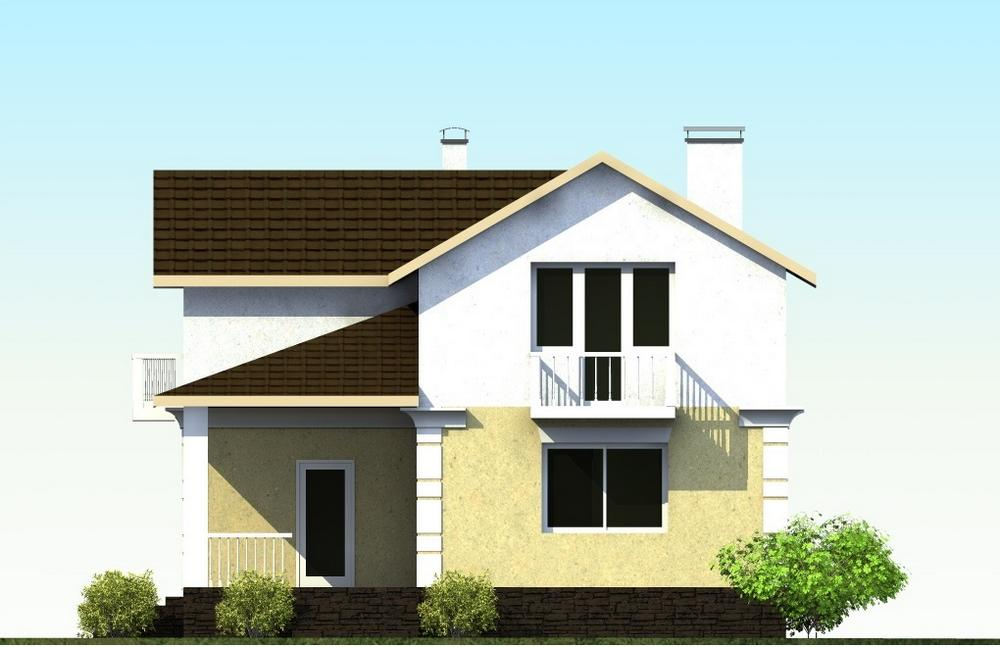 Орфей B-156. Проект дома с мансардой, на 3 спальни, с террасой