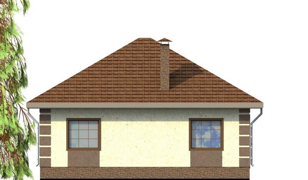 Осман A-062. Проект одноэтажного дома с двумя спальнями