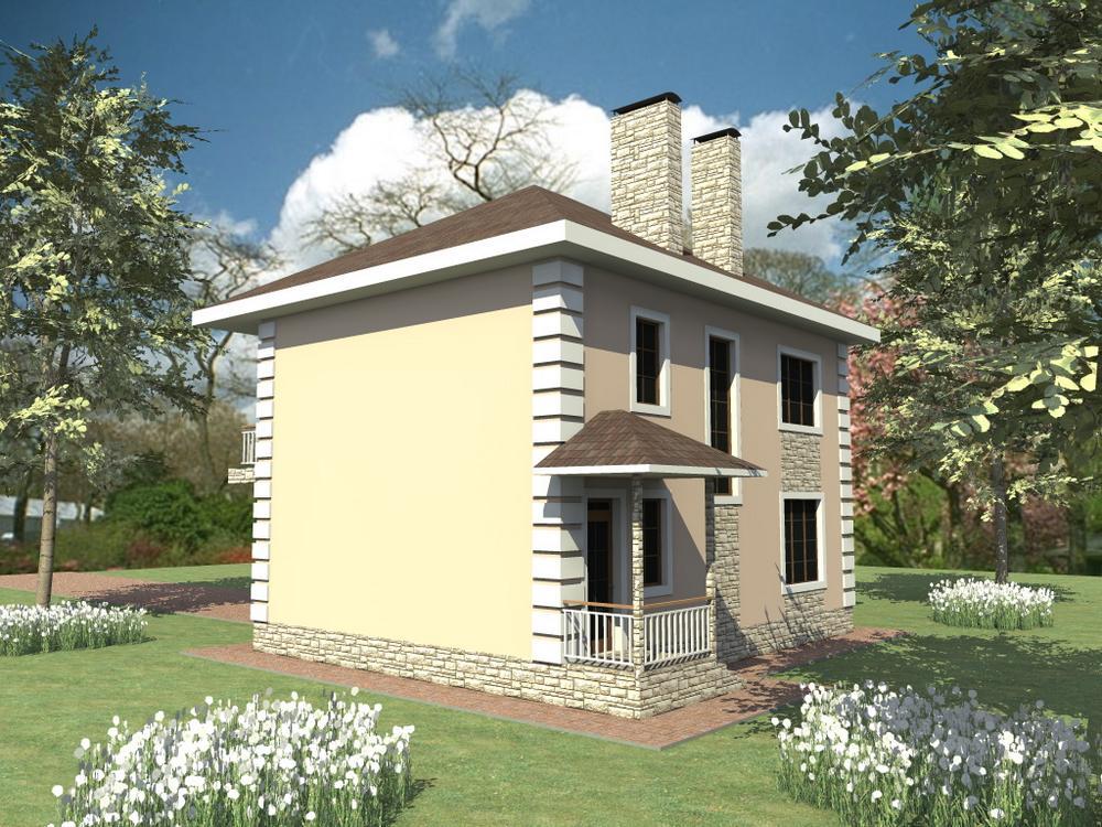 Паладис B-268. Проект двухэтажного дома на 4 спальни, с простой планировкой