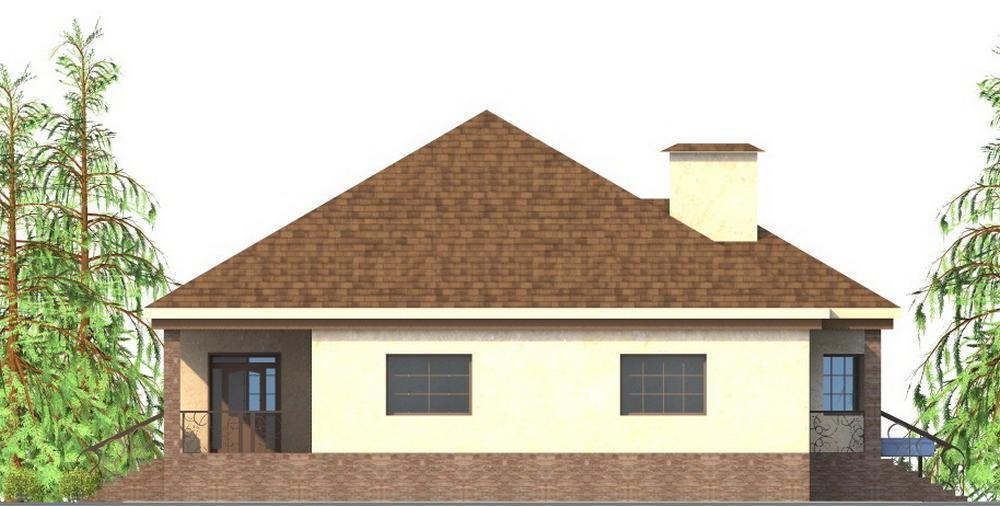 Парфий F-059. Проект одноэтажного дома с функциональным цокольным этажом, на 3 спальни