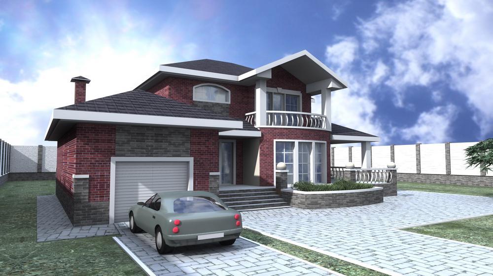 Пион D-098. Проект двухэтажного дома на 3 спальни, c гаражом и террасой