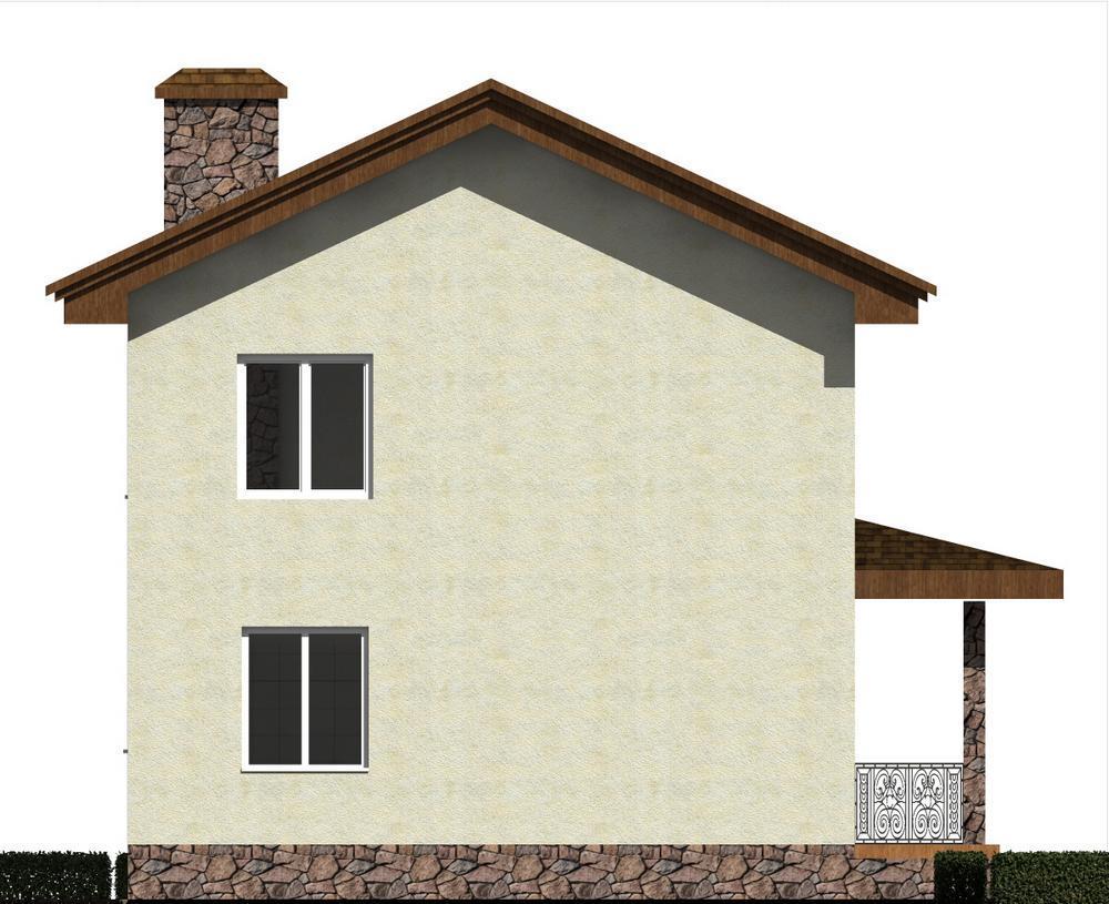 Простор B-182. Проект двухэтажного дома с 2 спальнями