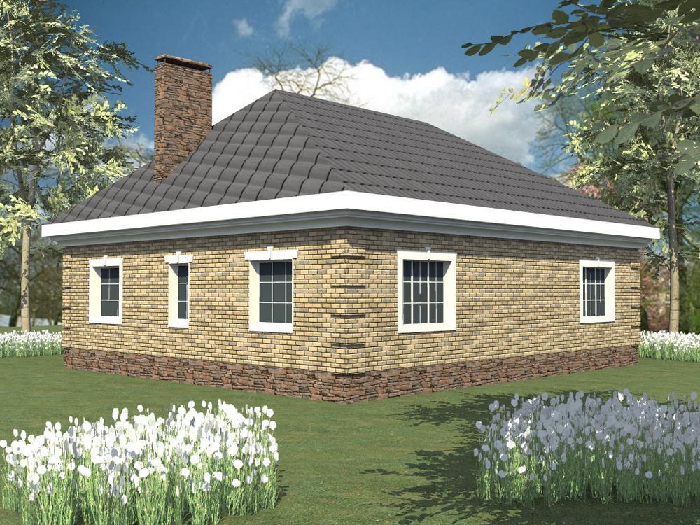 Рапсод B-004. Проект одноэтажного дома на 2 спальни