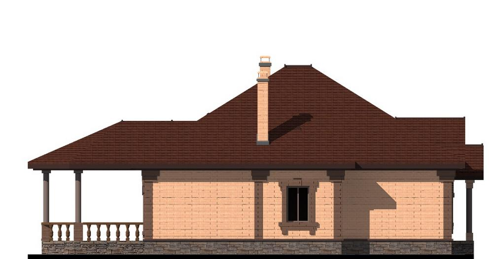Рапсодия C-224 с видеообзором. Проект одноэтажного дома с двумя спальнями и террасой