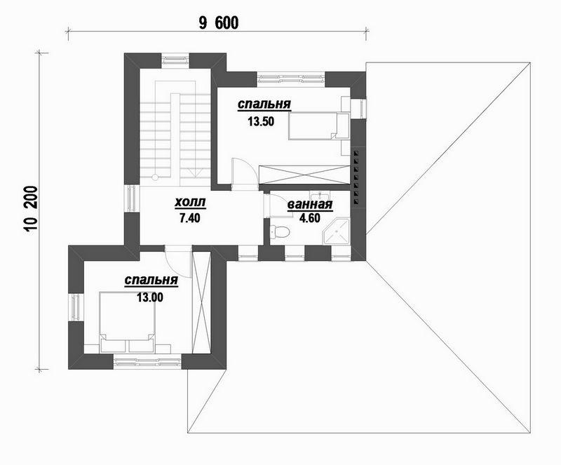Робеспьер B-183 с видеообзором. Проект современного двухэтажного дома с элементами барокко, на 3 спальни