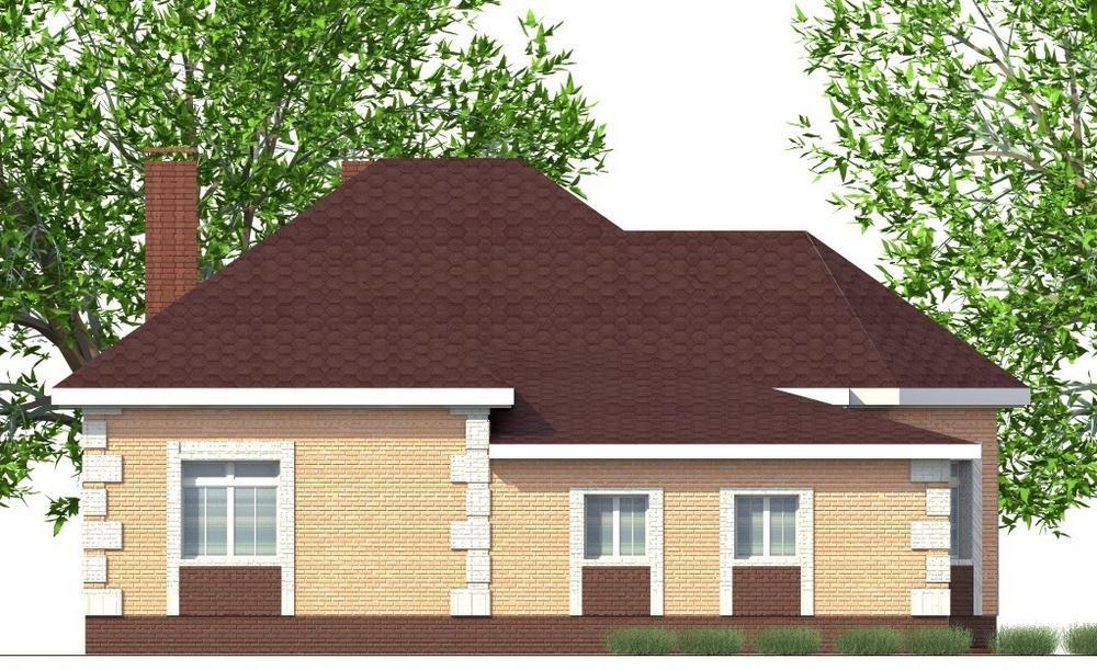 Рокот B-263. Проект одноэтажного дома на 2 спальни, с пристроенным гаражом