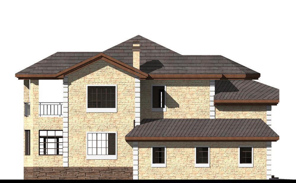 САММИТ F-070. Проект двухэтажного дома на 5 спален, с гаражом, подвалом, террасой