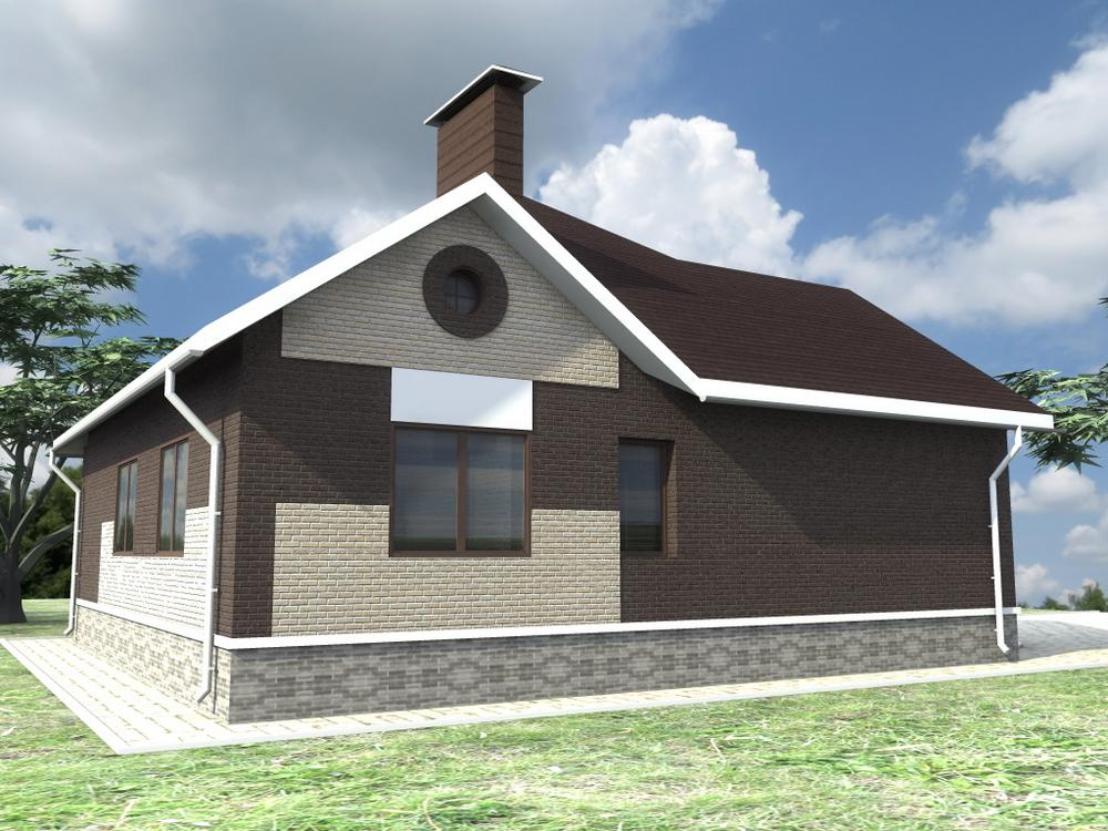 Сандал B-249. Проект красивого одноэтажного дома с простой планировкой