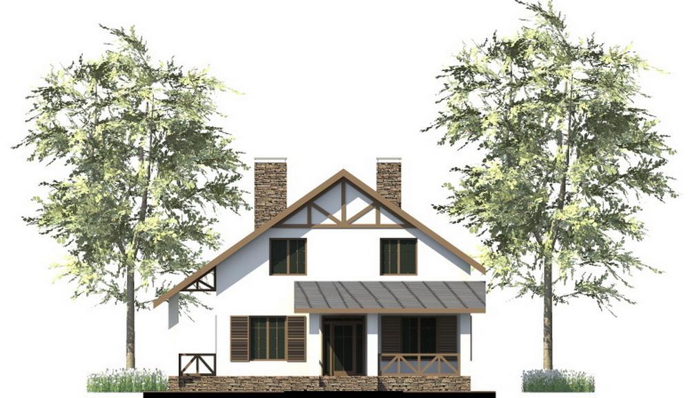 Савой C-242. Проект мансардного дома на 4 спальни, с террасой, подвалом