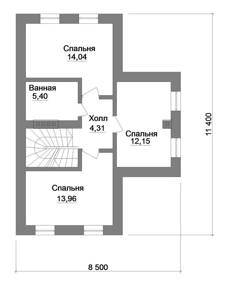 Сектор B-150. Проект классического загородного коттеджа на 4 спальни, с мансардным этажом